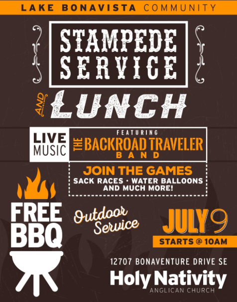 Holy Nativity Outdoor Service and Stampede BBQ